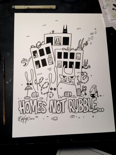 Homes Not Rubble print 2016